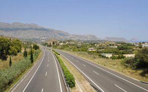 Autobahn, Altea, Alicante, Valencia, Costa Blanca, Spanien